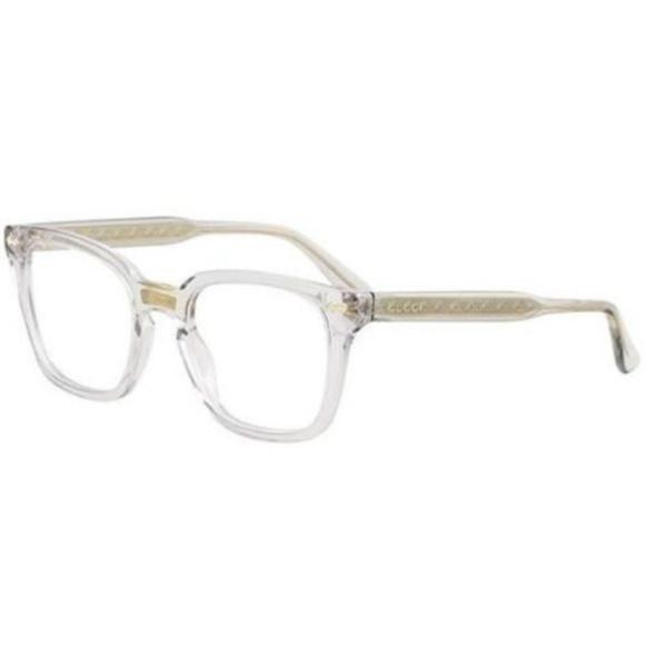 ff799ed7edf Gucci Men s GG0184O 005 Grey Frame 50mm Eyeglasses